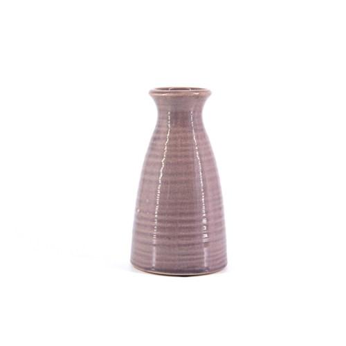 vintage aardewerk paarse vaas
