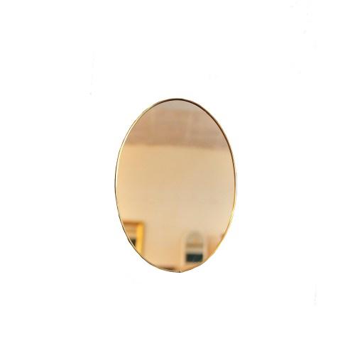 gouden ovale vintage spiegel