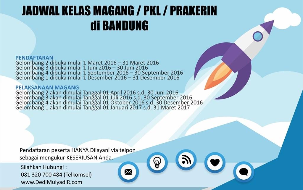 jadwal kelas magang pkl prakerin internet marketing bisnis online di bandung