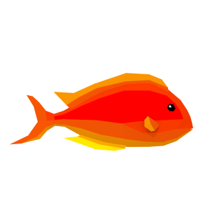LowPoly Colorful Reef Fishes (Part 3/3)