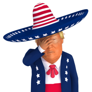 #trumpstickers Face-Palm Mexican Trump 3D Caricature