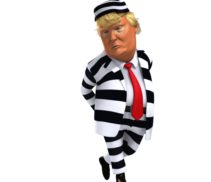 trump in prision outfit