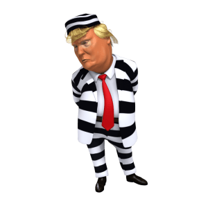 Trump In Stripes Suit 3d Caricature