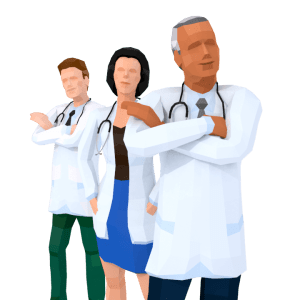Team of Doctors free PNG image