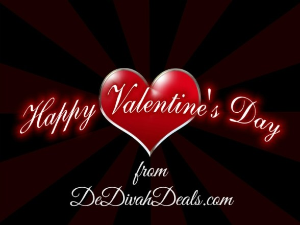 Happy Valentine's Day from DeDivahDeals.com
