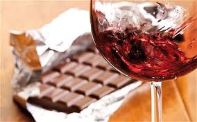 chocolate and red wine