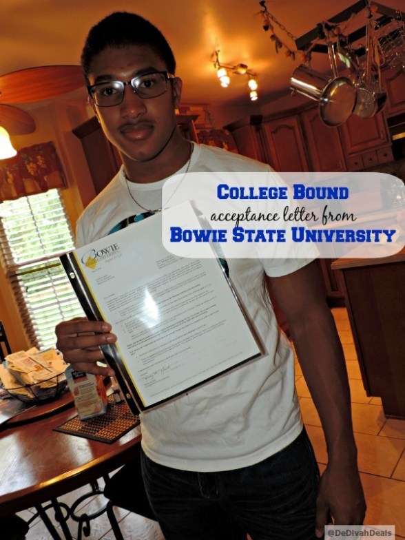 Malik and his acceptance letter to Bowie