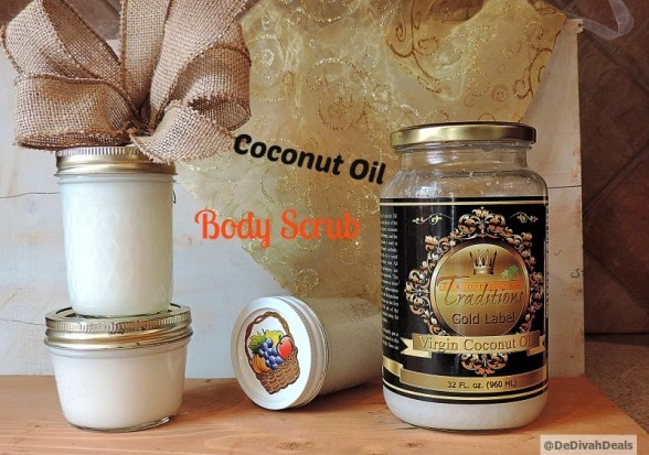 Body Scrub made with Virgin Coconut Oil
