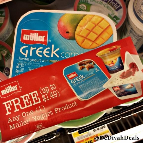 Muller Greek Yogurt and coupon