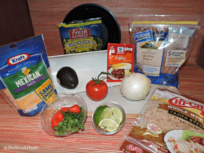 ingredients for fajitas