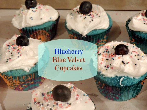 blueberry blue velvet cupcakes