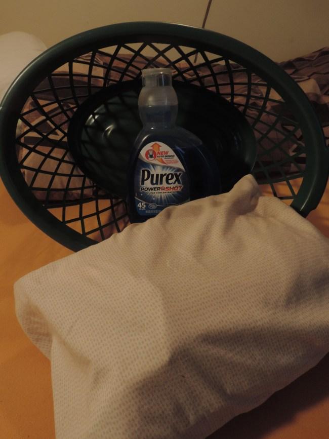 Purex Power Shot and fresh laundry
