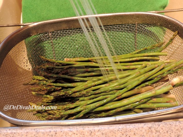 Thorough wash Asparagus, cut ends and discard