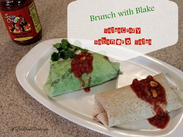 Breakfast Burrito made with SalsaCrazy