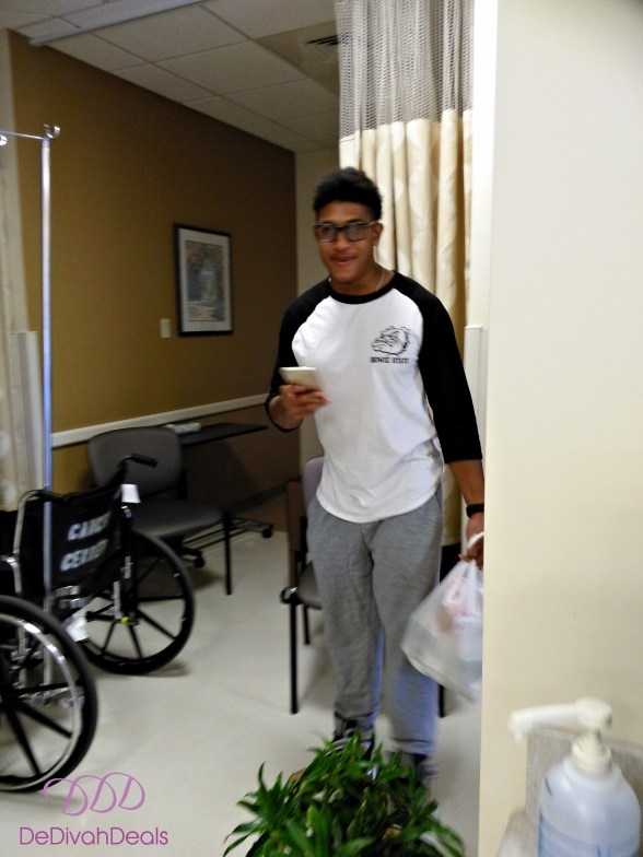 Malik at the Cancer Center