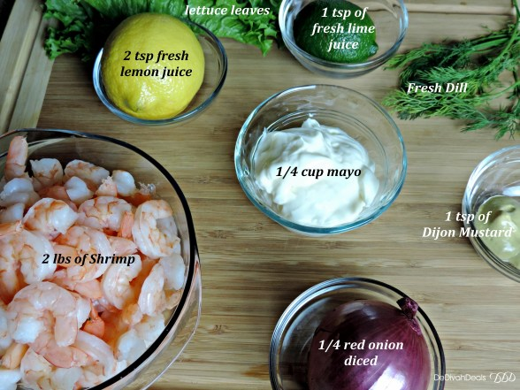 ingredients for shrimp salad