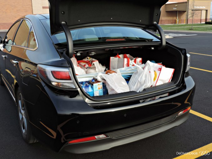 large trunk space in Hyundai Sonata