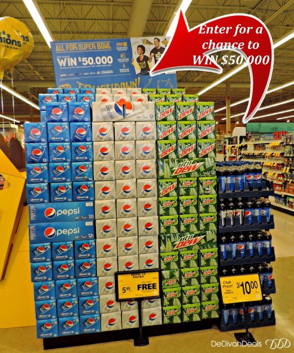 Pepsi chance to win $50,000