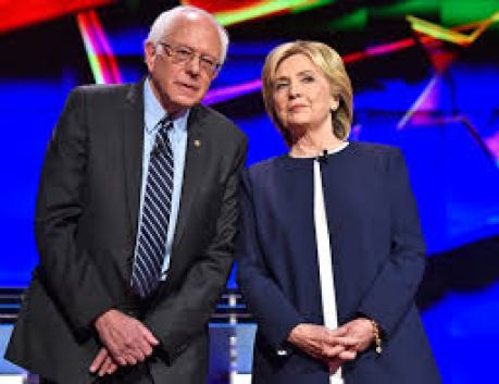 Hillary and Bernie at the debates