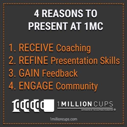 4 reasons to present at 1MC