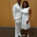 hubby and I at all white party