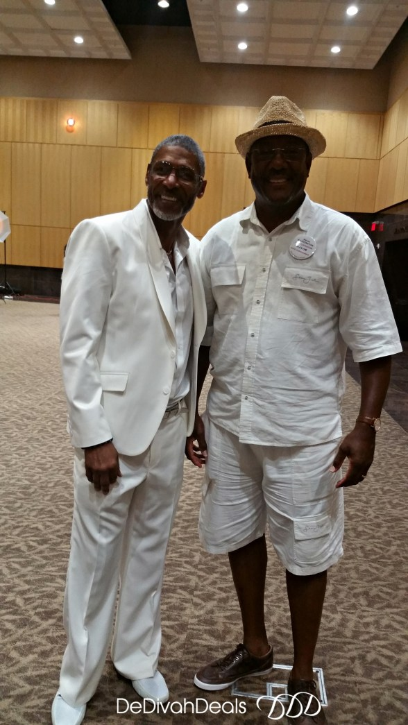 hubby and his friend at the white party