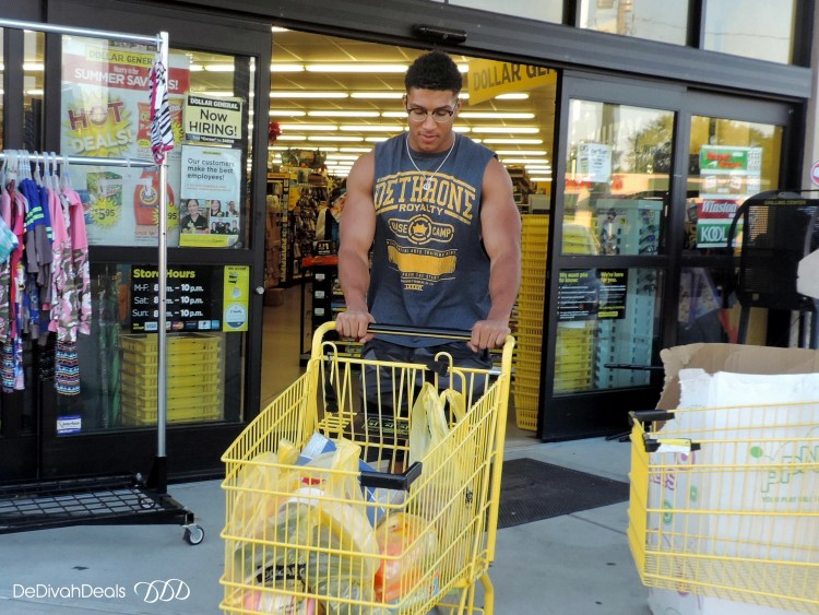 all his dorm supplies from Dollar General