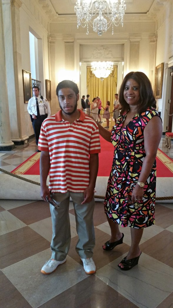 Tayair and I in The White House