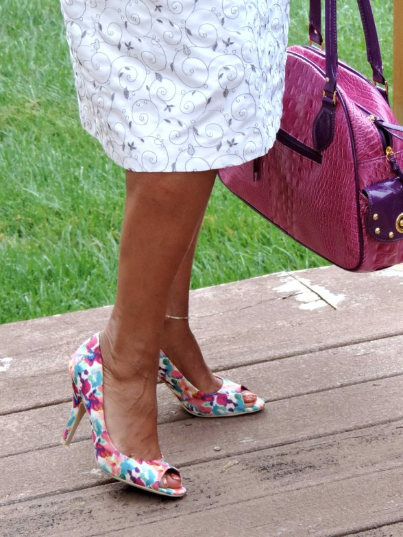 Floral shoes from Payless