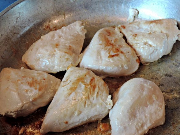 brown chicken breasts in butter