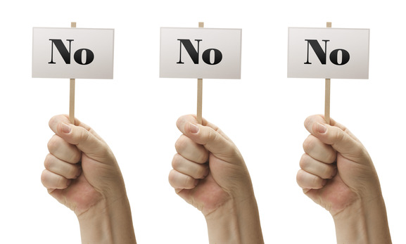 3 signs saying no