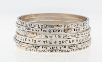 Dee Ayles Jewellery Inscription Bangle