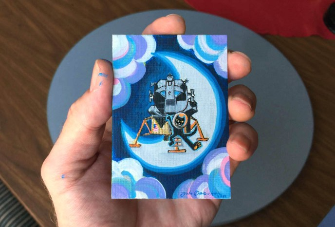 ACEO APOLLO 11 CAT HAND