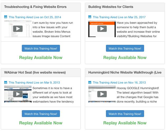 Wealthy Affiliate Website Help