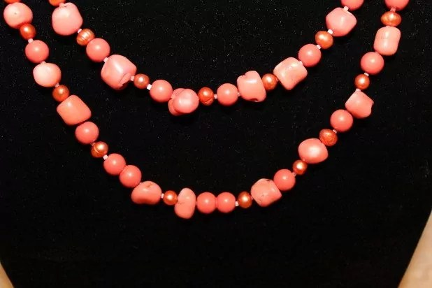 Coral Necklace up close