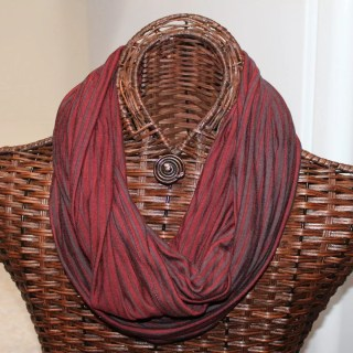 Rust and brown knit-finished width= 14.5