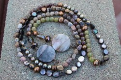 Semi-Precious Stones, Pearls, Jasper, Glass, and Mother of Pearl Beads