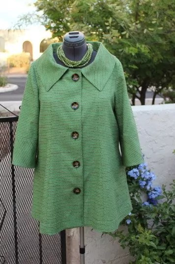 Green Apple Trench, DIY necklace, Hobby Lobby Buttons