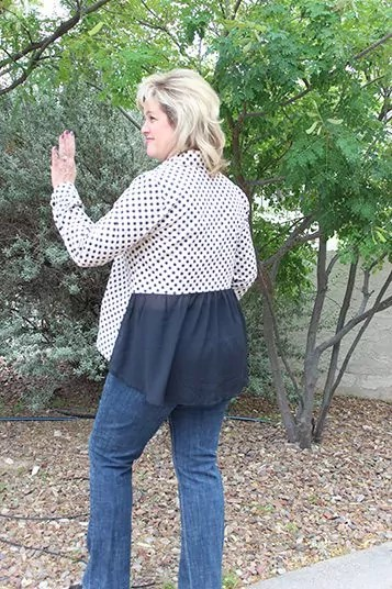 Checking the fit by waving to my neighbor