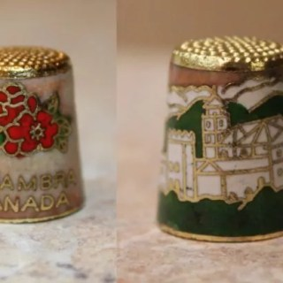 Cloisonne thimble from Granada, Spain