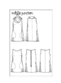 Indygo Junction Urban Tunic Line Drawing