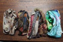 Four colorful Scarves