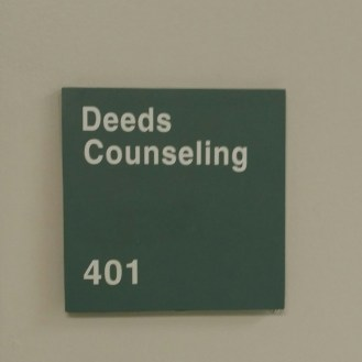 Deeds Counseling Suite 401 Sign