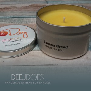 Banana Bread Soy Candle by DEEJ DOES