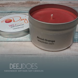 Blood Orange Soy Candle by DEEJ DOES