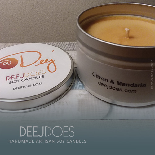 Citron & Mandarin Soy Candle by DEEJ DOES