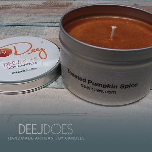 Toasted Pumpkin Spice Soy Candle by DEEJ DOES