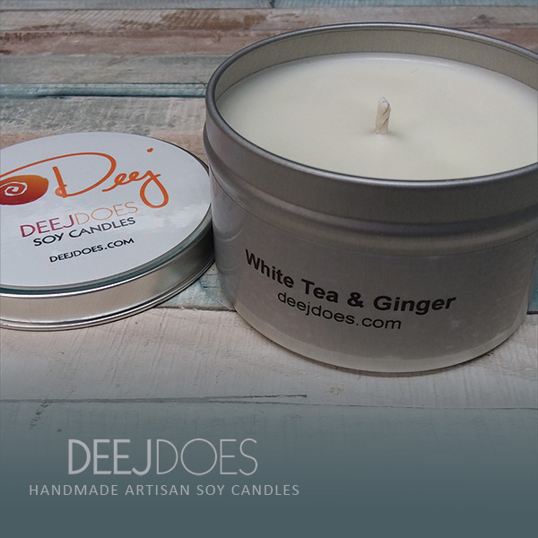 White Tea & Ginger Soy Candle by DEEJ DOES