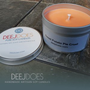 Sweet Potato Pie Crust Soy Candle by DEEJ DOES