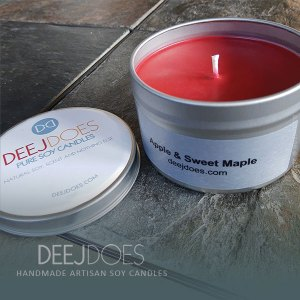 Apple & Sweet Maple Soy Candle by DEEJ DOES